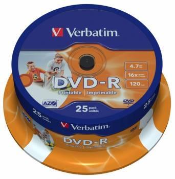 Диск DVD-R Verbatim 4.7Gb 16x (25шт) (43538)