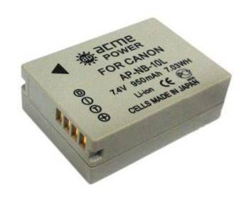Аккумулятор для компактных камер AcmePower AP-NB-10L - фото 1