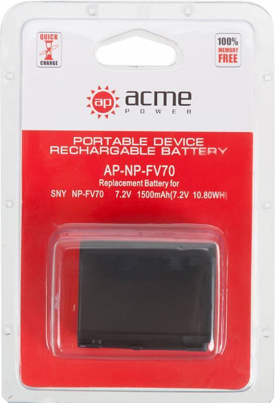 Аккумулятор для видеокамер AcmePower AP-NP-FV70 - фото 2