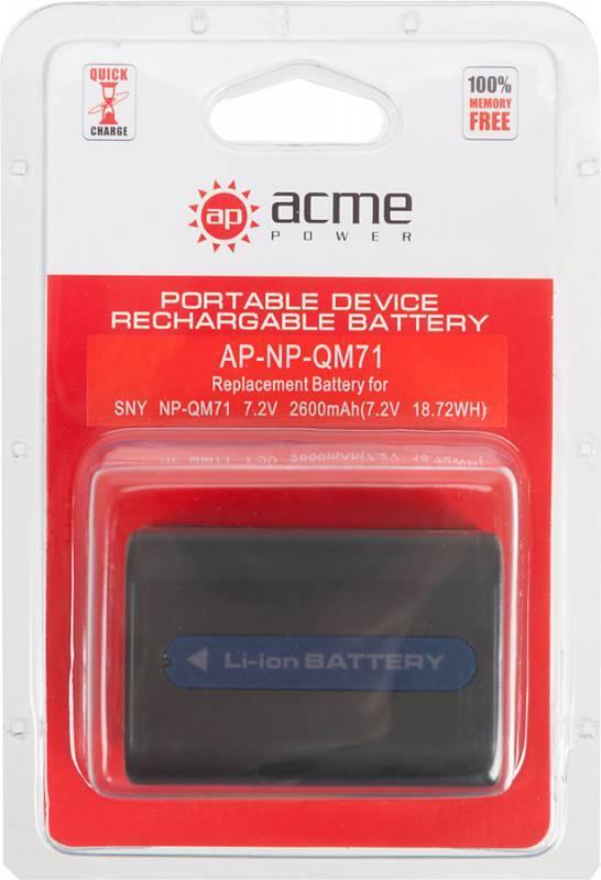 Аккумулятор для видеокамер AcmePower AP-NP-QM71 - фото 3