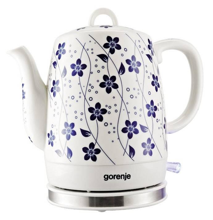 Чайник электрический Gorenje K10C белый - фото 1