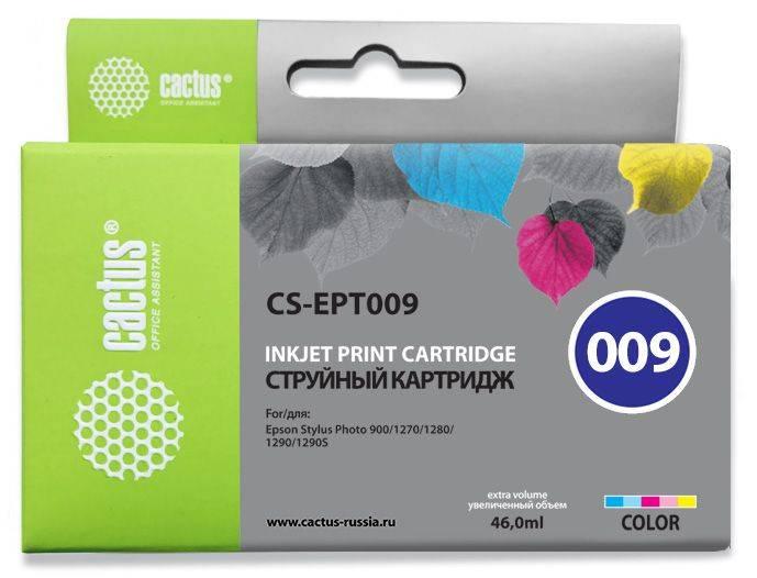 Картридж струйный Cactus CS-EPT009 многоцветный - фото 1