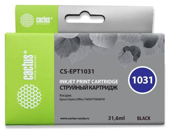 Картридж струйный Cactus CS-EPT1031 черный - фото 1
