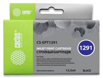 Картридж струйный Cactus CS-EPT1291 черный