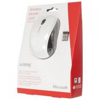Мышь Microsoft 3500 белый (GMF-00294)