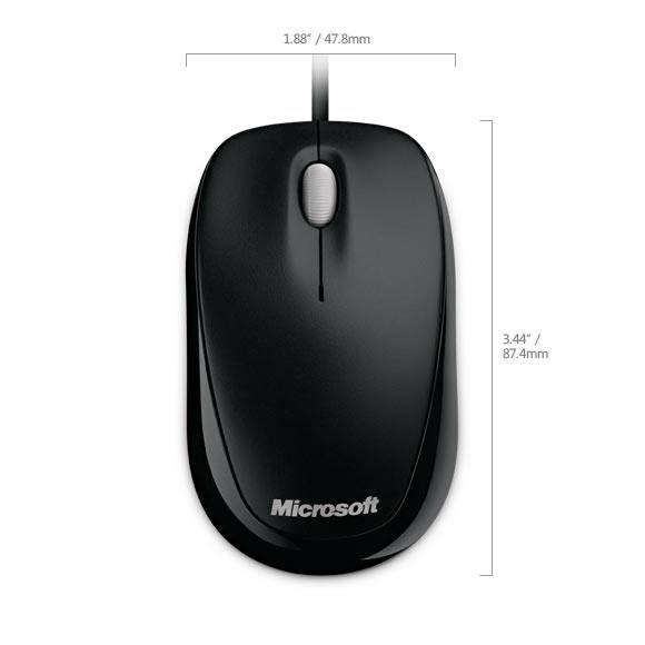 Мышь Microsoft 500 Compact черный - фото 7