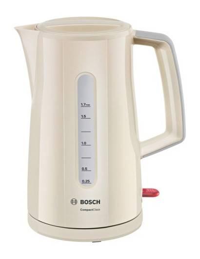 Чайник электрический Bosch TWK3A017 бежевый - фото 1