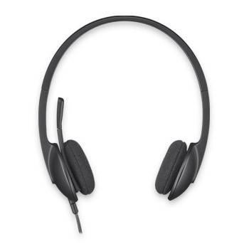 Наушники с микрофоном Logitech H340 черный - фото 1