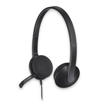 Наушники с микрофоном Logitech H340 черный - фото 2