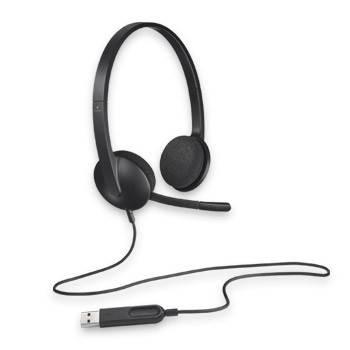 Наушники с микрофоном Logitech H340 черный - фото 3