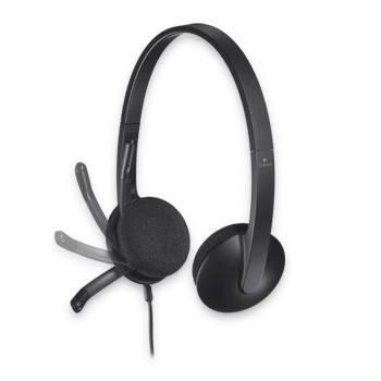 Наушники с микрофоном Logitech H340 черный - фото 4