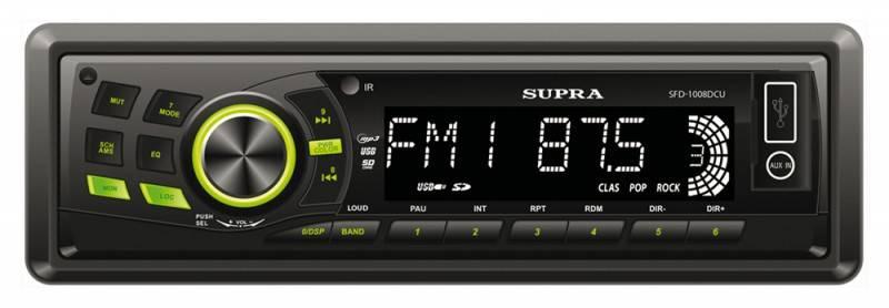Автомагнитола Supra SFD-1008DCU - фото 1