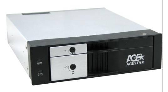 Сменный бокс для HDD AgeStar SMRP2 SATA III черный - фото 1