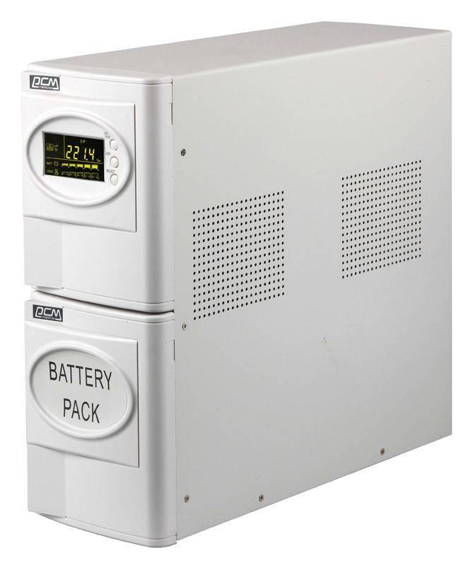 ИБП Powercom SMART KING XL SXL-1500A LCD 900Вт белый - фото 2
