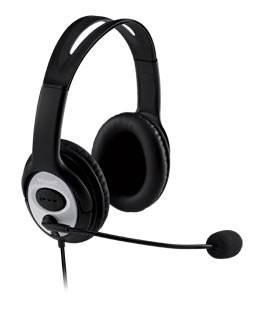 Наушники с микрофоном Microsoft LifeChat LX-3000 черный / серебристый