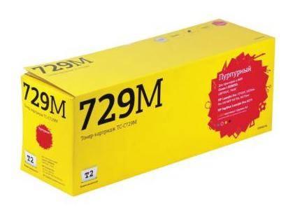 Тонер Картридж T2 TC-C729M 729M пурпурный - фото 1