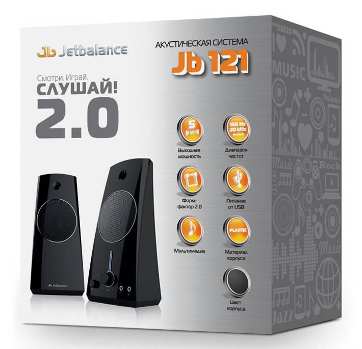 Акустическая система 2.0 Jetbalance JB-121 черный - фото 2