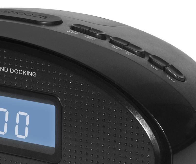 Радиобудильник Hyundai H-1535 черный - фото 2
