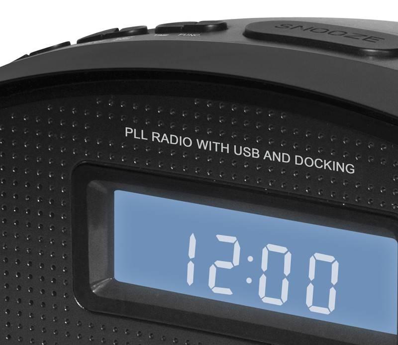 Радиобудильник Hyundai H-1535 черный - фото 3