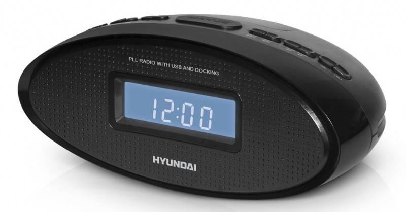 Радиобудильник Hyundai H-1535 черный - фото 1