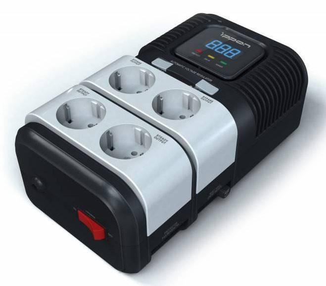 Стабилизатор напряжения Ippon STAB-1000 500Вт - фото 2