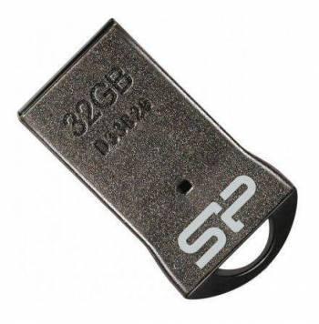 Флеш диск 32Gb Silicon Power Touch T01 USB2.0 черный / серебристый