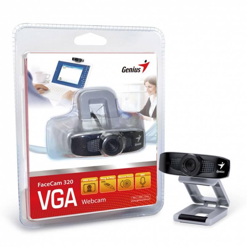Камера Web Genius FaceCam 320 черный/серый - фото 4