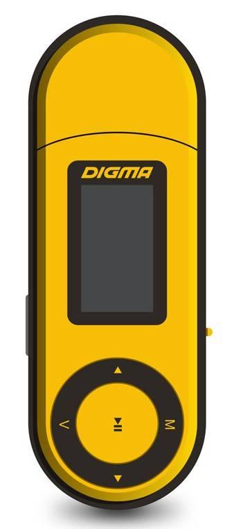 mp3-плеер 4Gb Digma U1 оранжевый/черный - фото 1