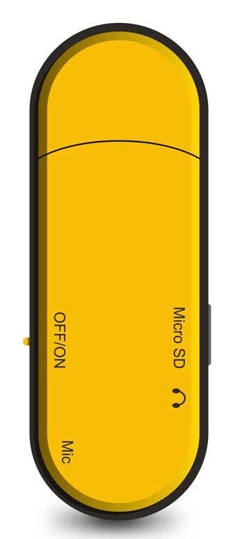 mp3-плеер 4Gb Digma U1 оранжевый/черный - фото 2