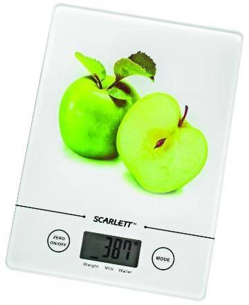 Кухонные весы Scarlett SC-1213 белый/яблоко - фото 1