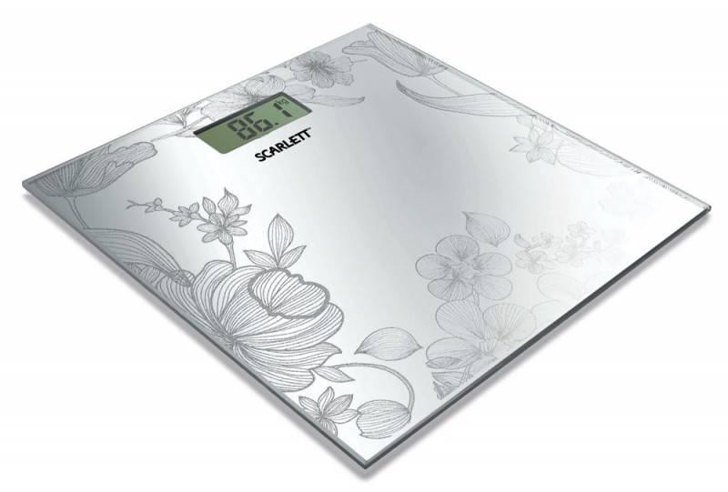 Весы напольные электронные Scarlett SC215 серебристый - фото 1