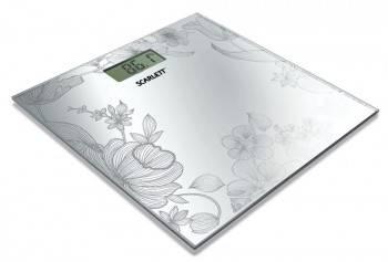 Весы напольные электронные Scarlett SC215 серебристый