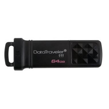 Флешка Kingston DataTraveler DT111/64GB  64Гб USB3.0 черный - фото 1