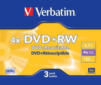 Диск DVD+RW Verbatim 4.7Gb 4x (3шт) (43636)