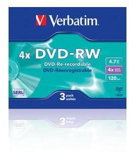 Диск DVD-RW Verbatim 4.7Gb 4x (3шт) (43635)