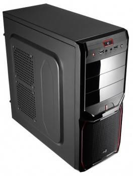 Корпус ATX Aerocool V3X черный/красный (V3X RED)
