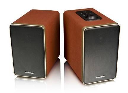 Акустическая система 2.0 Microlab H21 коричневый - фото 1