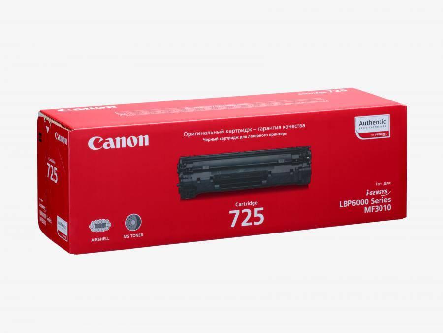 Тонер Картридж Canon 725 3484B005 черный - фото 1