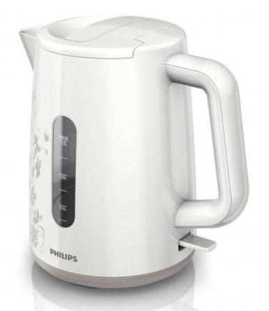 Чайник электрический Philips HD9304 белый/рисунок - фото 1