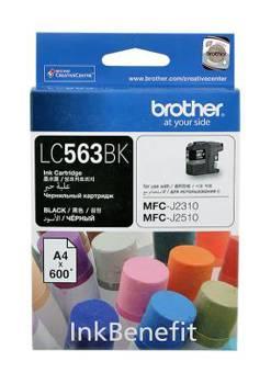 Картридж струйный Brother LC563BK черный - фото 1
