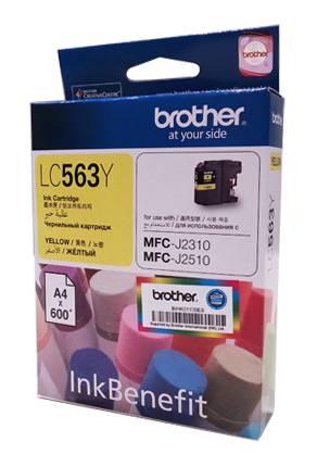 Картридж струйный Brother LC563Y желтый - фото 1
