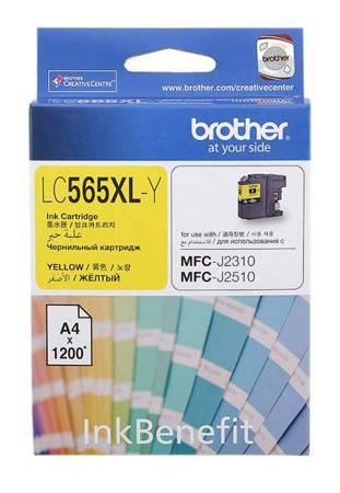 Картридж струйный Brother LC565XLY желтый - фото 1