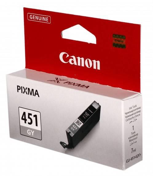 Картридж струйный Canon CLI-451GY 6527B001 серый - фото 1