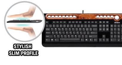 Клавиатура A4 KX-6mu черный/коричневый - фото 3