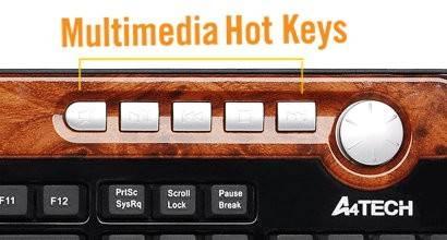 Клавиатура A4 KX-6mu черный/коричневый - фото 5