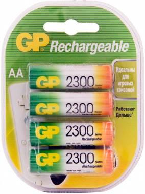 Аккумулятор AA GP 230AAHC, в комплекте 4шт. (GP 230AAHC-2DECRC4)