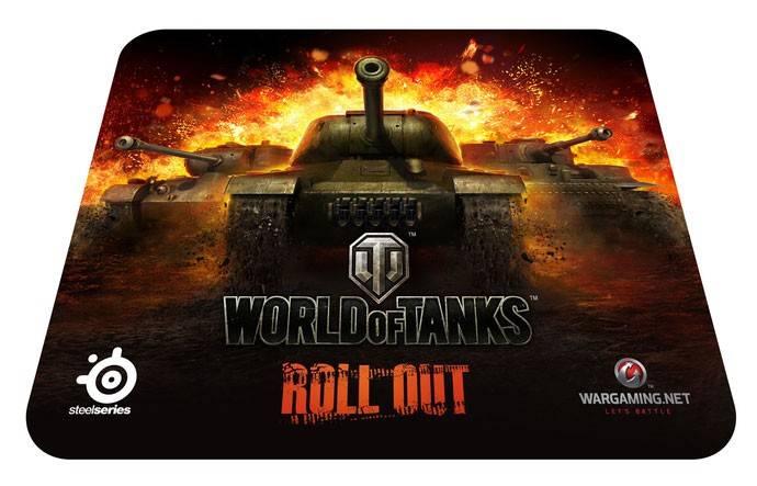 Коврик для мыши Steelseries SS QCK World of Tanks черный - фото 1