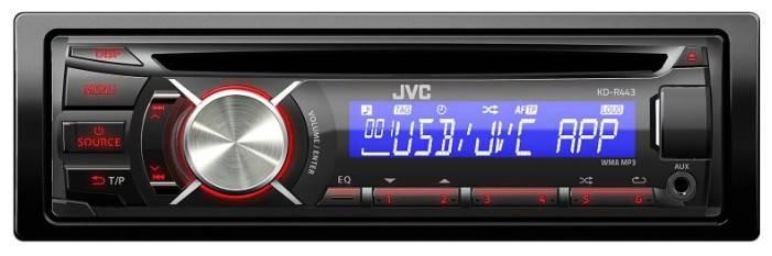 Автомагнитола JVC KD-R443EY - фото 1