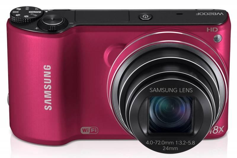 Фотоаппарат Samsung WB200F красный - фото 2