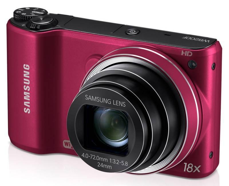 Фотоаппарат Samsung WB200F красный - фото 3